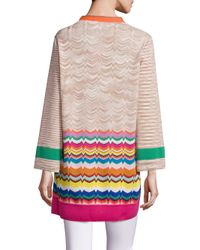 Missoni - Multicolor Long Open-front Cardigan - Lyst