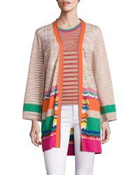 Missoni - Multicolor Long Open-front Cardigan - Lyst