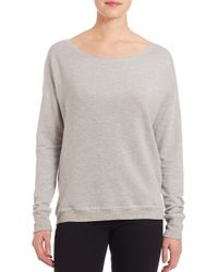 Feel The Piece - Gray Blade Back Cutout Relaxed Fit Sweatshirt - Lyst