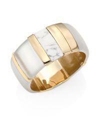 Alexis Bittar - White Lucite Liquid Visage Large Colorblock Cuff Bracelet - Lyst