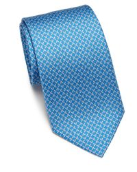 Ferragamo | Blue Butterfly Silk Tie for Men | Lyst
