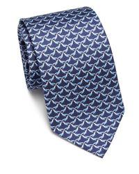 Ferragamo   Blue Marine Seal Silk Tie for Men   Lyst