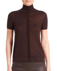 Akris | Multicolor Fringe-detail Cashmere & Silk Knit Top | Lyst