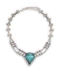 DANNIJO - Multicolor Wendy Turquoise & Crystal Pendant Necklace - Lyst