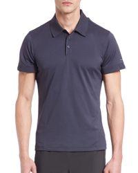 Porsche Design | Blue Pique Polo Shirt for Men | Lyst