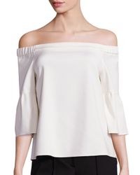 Tibi | White Off-the-shoulder Blouse | Lyst