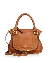 Chloé | Brown Marcie Medium Leather Satchel | Lyst