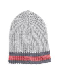 Gucci | Gray Charui Striped Wool Hat for Men | Lyst