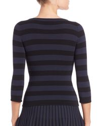 Tomas Maier - Black Striped Boatneck Top - Lyst