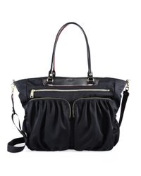 MZ Wallace | Black Bedford Large Abbey Leather Tote | Lyst