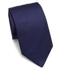 Eton of Sweden | Blue Textured Silk Tie for Men | Lyst