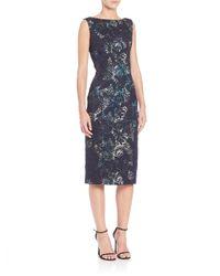 THEIA | Multicolor Lace Sheath Dress | Lyst