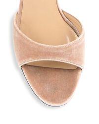 Valentino - Multicolor Ballet Fever Velvet Ankle-wrap Block-heel Sandals - Lyst