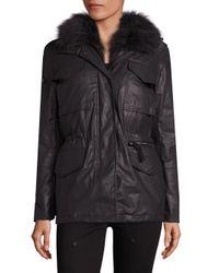 Sam. | Multicolor 2-in-1 Kate Coated Parka & Fox Fur Vest | Lyst
