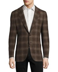 Isaia   Brown Regular-fit Exploded Glen Plaid Wool Sportcoat for Men   Lyst