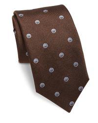 Saks Fifth Avenue   Brown Sphere Dot Silk Tie for Men   Lyst