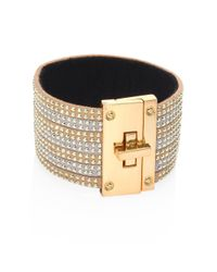 ABS By Allen Schwartz - Metallic Rebel Soul 12k Goldplated Flex Bracelet - Lyst