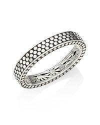John Hardy   Metallic Dot Sterling Silver Cuff Bracelet   Lyst