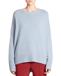 Theory | Blue Karenia Cashmere Sweater | Lyst