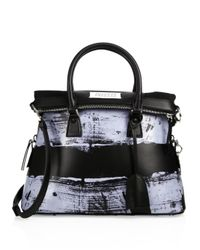 Maison Margiela - Black Large Fold-over Leather Top-handle Tote - Lyst