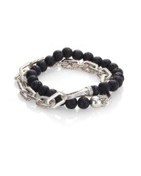 John Hardy | Gray Classic Chain Collection Beads & Link Bracelet | Lyst