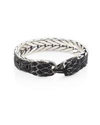 John Hardy | Legends Eagle Black Sapphire & Sterling Silver Bracelet | Lyst