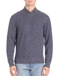 Brunello Cucinelli - Blue Heathered Felpa Sweatshirt for Men - Lyst