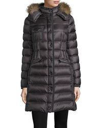 Moncler | Gray Hermifur Fox Fur-trimmed Puffer Coat | Lyst