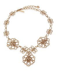 Oscar de la Renta - Metallic Looped Rope Necklace - Lyst