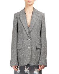 Stella McCartney - Gray Abrielle Flecked Jacket - Lyst