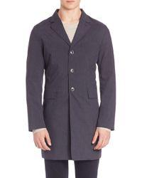 J.Lindeberg | Blue Wolger 65 Technology Trench Coat for Men | Lyst