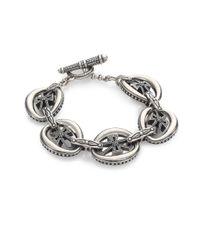 Konstantino | Metallic Penelope Sterling Silver Cross Link Bracelet | Lyst