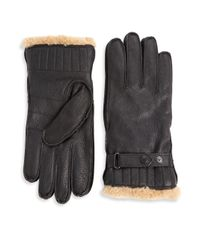 Barbour | Black Full Grain Leather Gloves for Men | Lyst