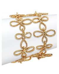 Oscar de la Renta | Metallic Looped Rope Bracelet | Lyst