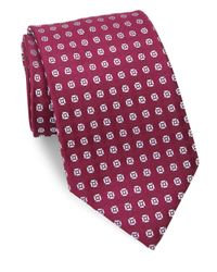 Charvet | Purple Abstract Floral Silk Tie for Men | Lyst