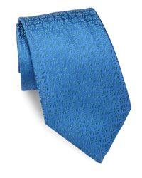 Charvet | Blue Solid Textured Silk Tie for Men | Lyst