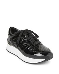 KENZO | Black Patent Leather Logo Platform Sneakers | Lyst