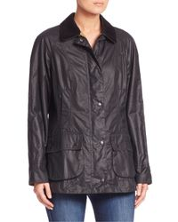 Barbour - Blue Beadnell Waxed Cotton Jacket - Lyst