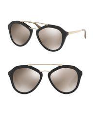 Prada | Black 54mm Pilot Sunglasses | Lyst