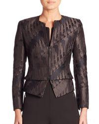 Akris | Black Ilka Jacquard Jacket | Lyst