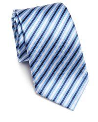 Saks Fifth Avenue | Blue Herringbone Textured Striped Silk Tie for Men | Lyst