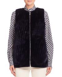 Lafayette 148 New York | Blue Bountiful Faux Fur Kieran Vest | Lyst