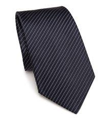 Armani | Blue Thin Striped Silk Tie for Men | Lyst