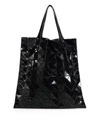 Bao Bao Issey Miyake | Black Prism Basic Metallic Faux Leather Tote | Lyst
