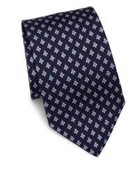 Ferragamo | Blue Dragonfly Silk Tie for Men | Lyst