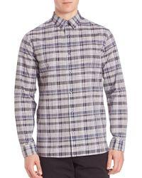 VINCE   Multicolor Multi-plaid Woven Button-down Shirt for Men   Lyst