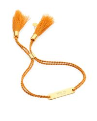 Chloé | Metallic Messages Wild-engraved Cotton Bracelet | Lyst