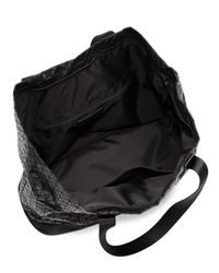 Bao Bao Issey Miyake - Black Geometric Panel Weekender Bag - Lyst