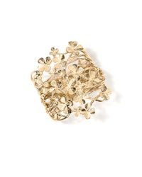 Aurelie Bidermann   Metallic Tamar Clover Cuff Bracelet   Lyst