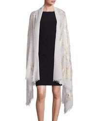 Bajra   Multicolor Metallic Wool & Silk Wrap   Lyst